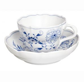 Meissen Blue Onion Coffee Cup & Saucer 582